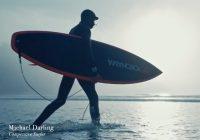 Surfer demonstrates grip